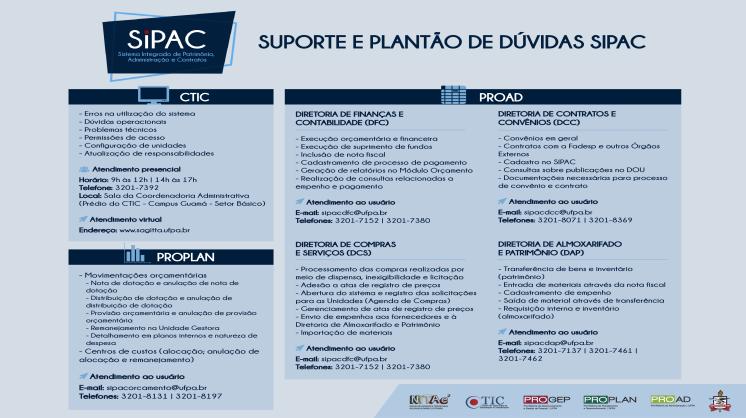 Você está com dúvidas sobre os novos módulos do SIPAC?
